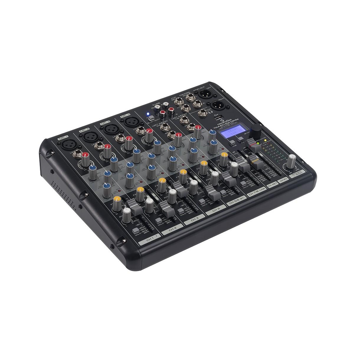 MIXER SOUNDSATION YOUMIX-402 MEDIA C/EFFETTI E LETTORE AUDIO