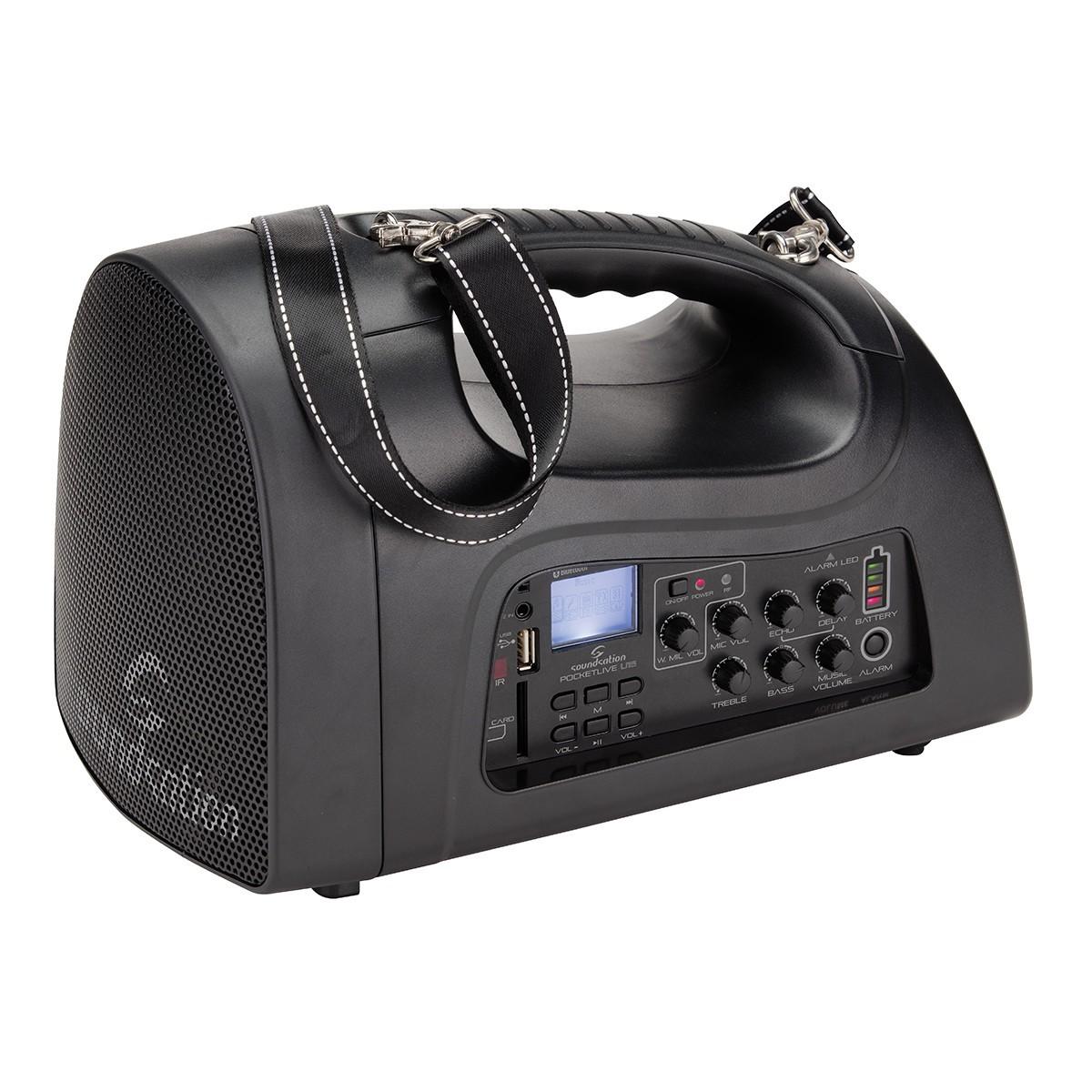 PA SYSTEM A BATTERIE SOUNDSATION POCKETLIVE U16HBT CON MIC WIRELESS MP3 BLUETOOTH