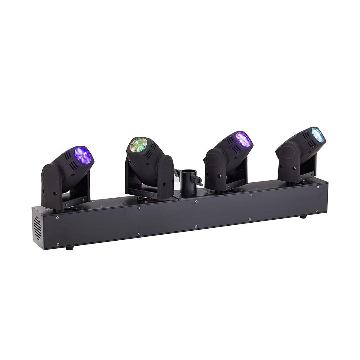 BARRA 4 TESTE MOBILI LED BEAM SOUNDSATION MHL-4H-BAR 4x10W RGBW CREE