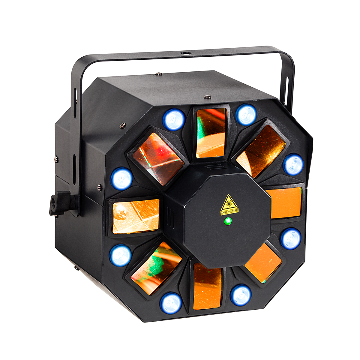 EFFETTO SOUNDSATION CEL-5318-RG LED 5*3W 5IN1 + STROBO 8*1W + LASER RG 200mW