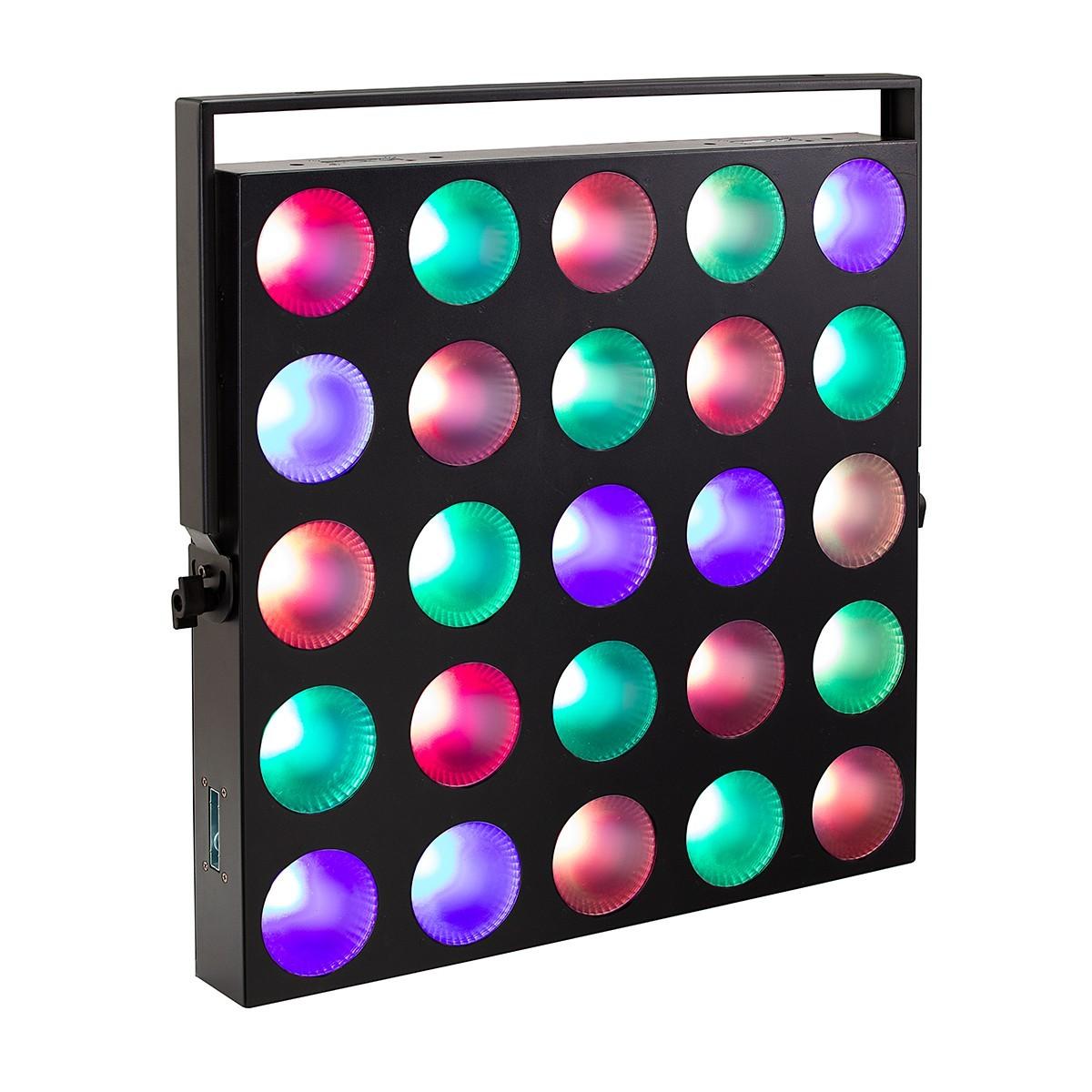 SET 4 MATRIX BLINDER SOUNDSATION MTR-25-10W-RGBW CON FLIGHT CASE