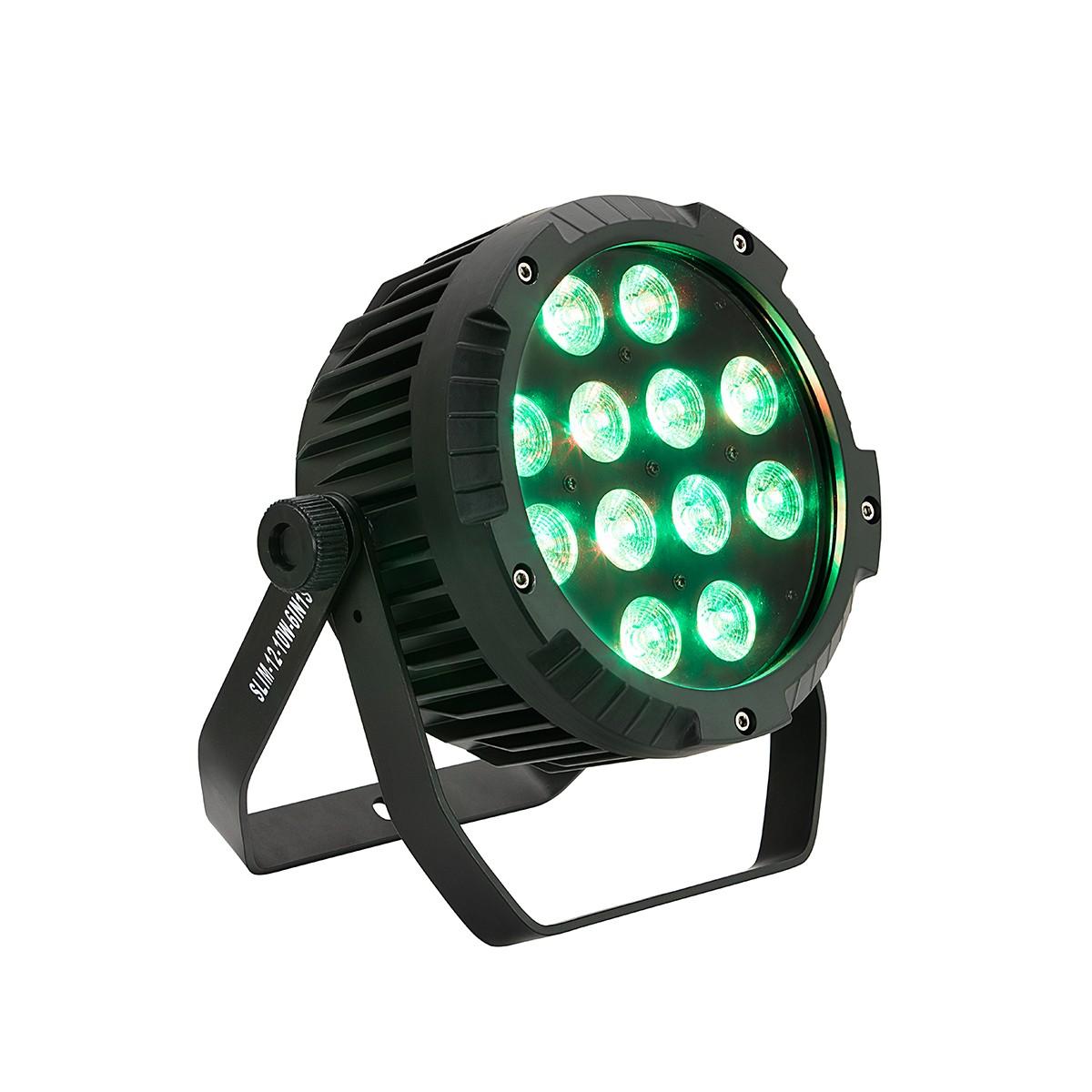 PROIETTORE A LED SOUNDSATION SESTETTO 1012 SLIM SILENT RGBWAV 6IN1