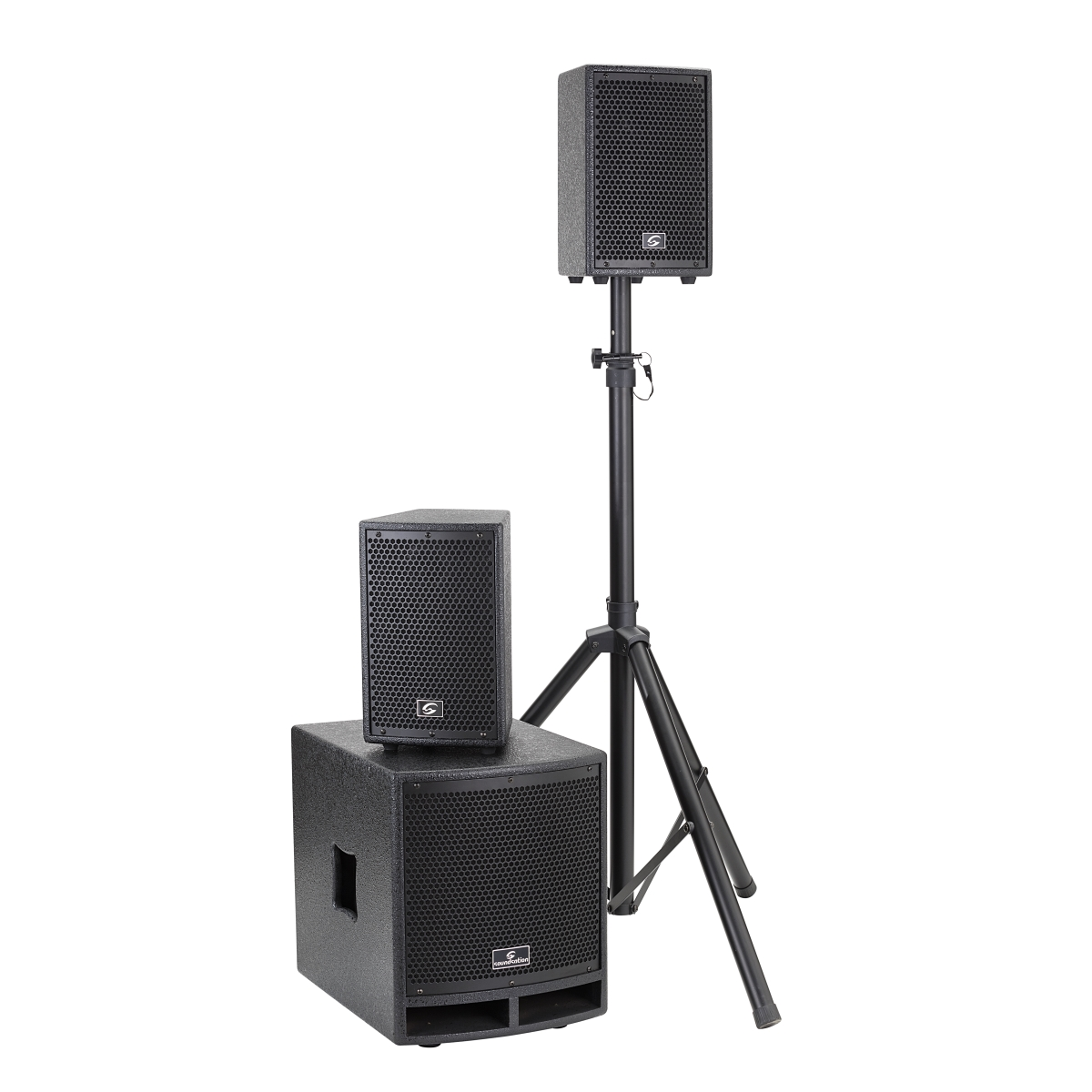 SISTEMA PA 2.1 SOUNDSATION LIVEMAKER 1021 MIX 900W. 2x6.5