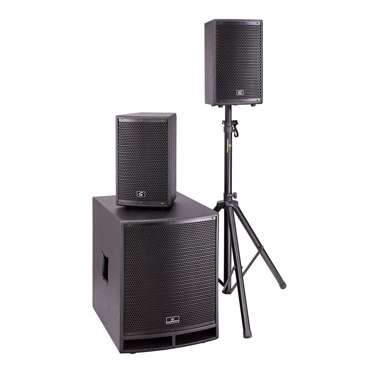 SISTEMA PA 2.1 SOUNDSATION LIVEMAKER 1521 MIX. 2x8