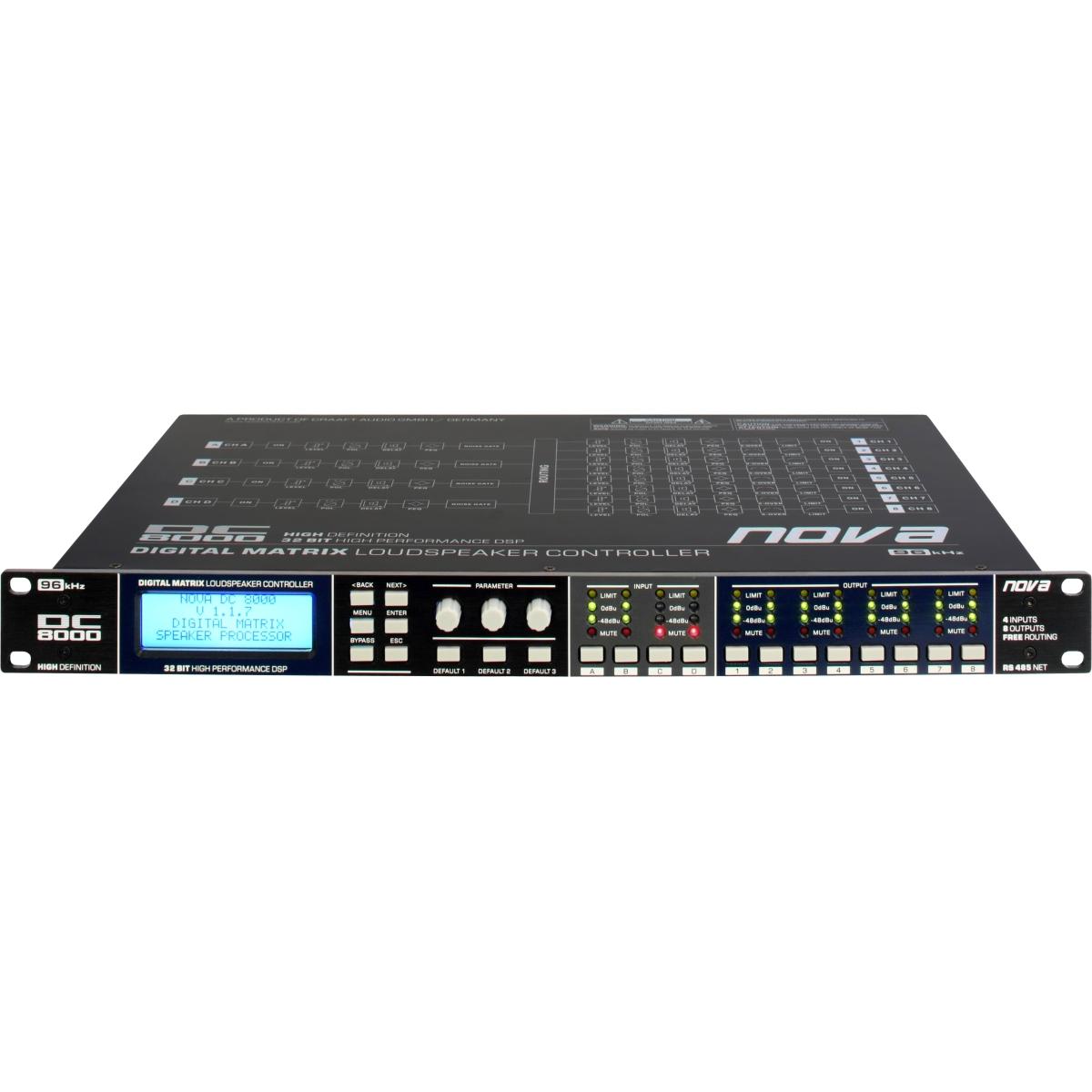 NOVA - DC8000 - PROCESSORE DIGITALE DI CONTROLLO SPEAKER