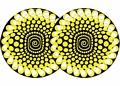 2x Zomo Slipmats Balls - giallo 0020104471